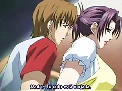 Beautiful Anime MILF Gets 2 Cocks To Suck and...